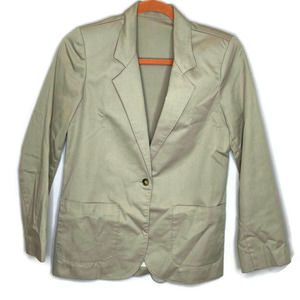 Jantzen women's 6 Khaki Cotton Blazer Unlined 6